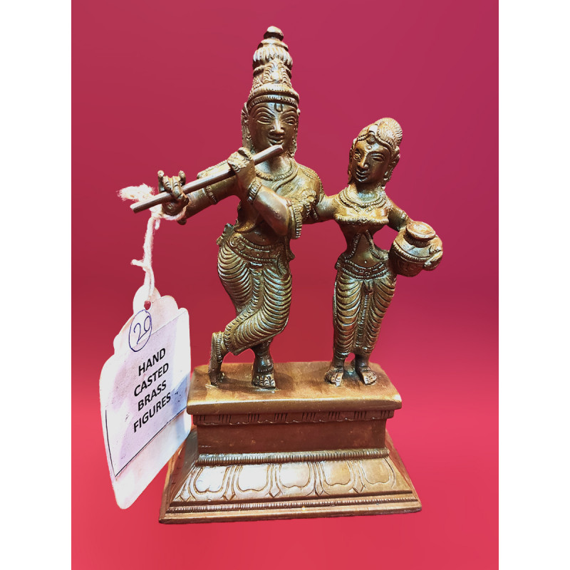 Radha Krishna Handcrafted In Brass Size 6 Inches