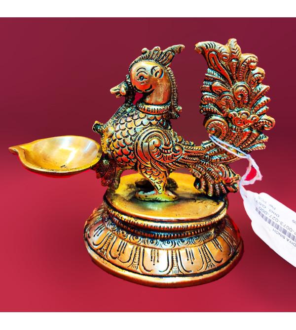 Annum Bird Diya Handcrafted In Brass Size 5 Inches