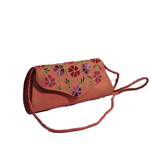 CCIC Silk Sling Bag With Assorted Designs And Colors Size 9x5 Inch