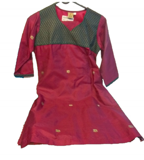 Plain Silk   Salwar Kameez  Size 10 To 12 Years