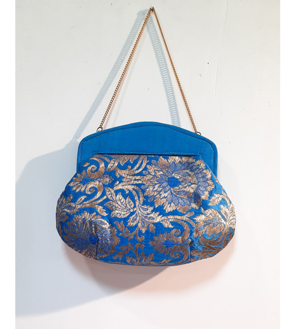 CCIC Silk Evening Bag With Assorted Designs Size 10x7 Inch