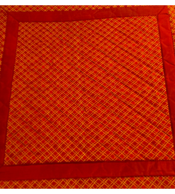 CUSHION COVER SILK QUILTED 16X16