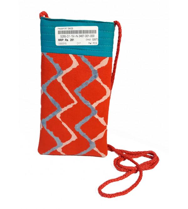 CCIC Cotton Printed Passport Bag Size 4x7 Inch