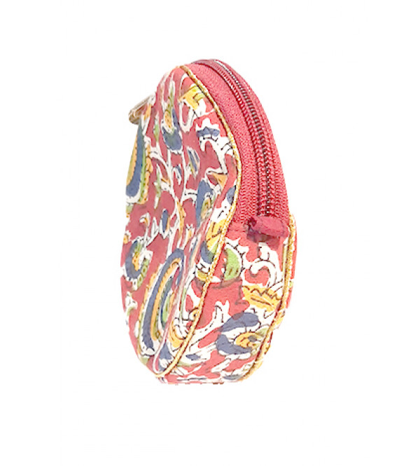CCIC Cotton Zipper Bag With Assorted Designs and Colors Size 6x6 Inch