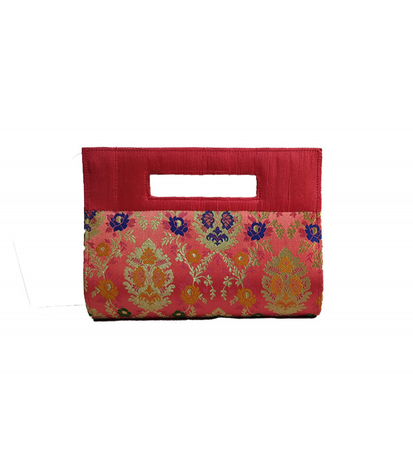 CCIC Silk Evening Bag With Assorted Designs Size 9x8 Inch
