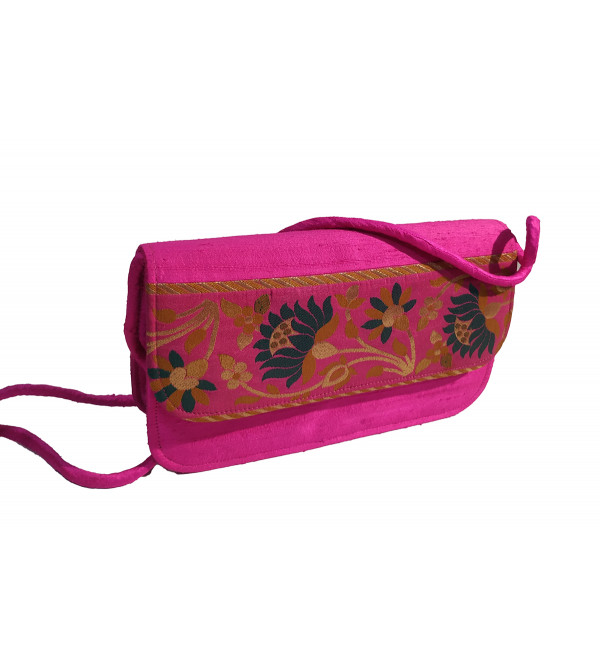 CCIC Silk Sling Bag With Assorted Designs And Colors Size 8x5 Inch