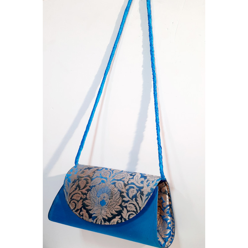 CCIC Silk Sling Bag With Assorted Designs And Colors Size 10x5 Inch
