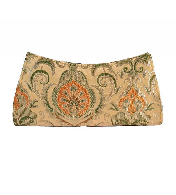 CCIC Silk Clutch Bags With Assorted Designs and Colors Size 10x5 Inch