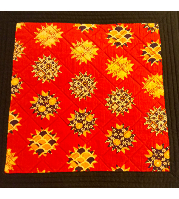 CUSHION COVER COTTON QUILTED 16X16