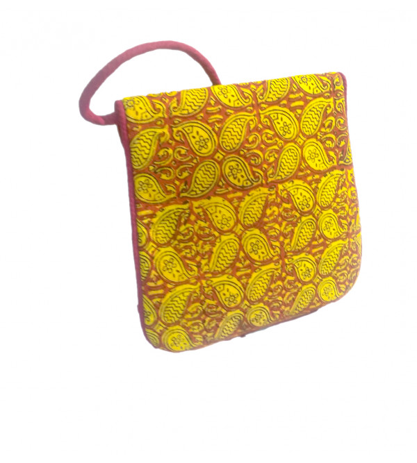 CCIC Cotton Sling Bag With  Assorted Designs And Colors Size 8x6 Inch