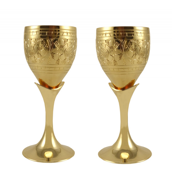 6PC TEQUILA SET SMALL GOBLET SET GOLD PLATED