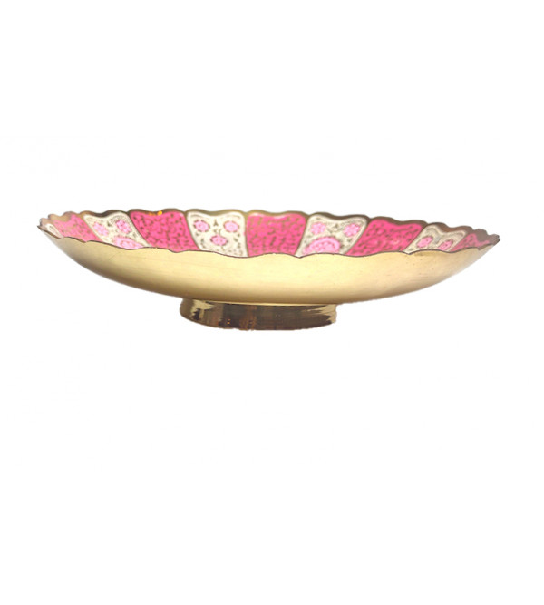 8 INCH FRUIT BOWL ENAMELLED ASSORTED DESIGNS AND COLORS