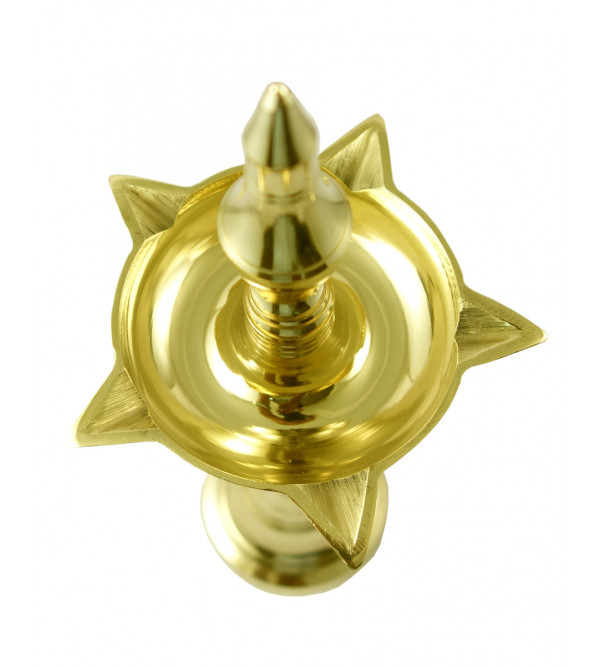 Handicraft Oil Lamps Brass Plain 9 Inch