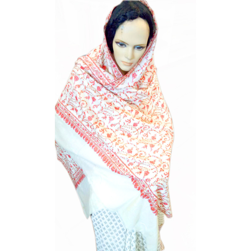 PURE PASHMINA SHAWL HEAVY JALL 40X80 INCH