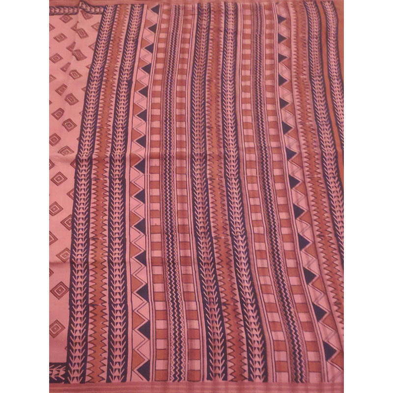 Printed Cotton Saree Without Blouse
