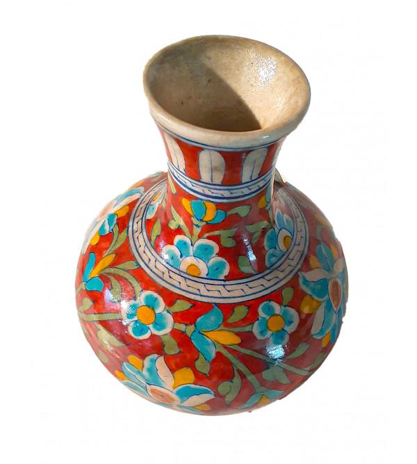 Blue Pottery Flower Vase Size 6 Inch
