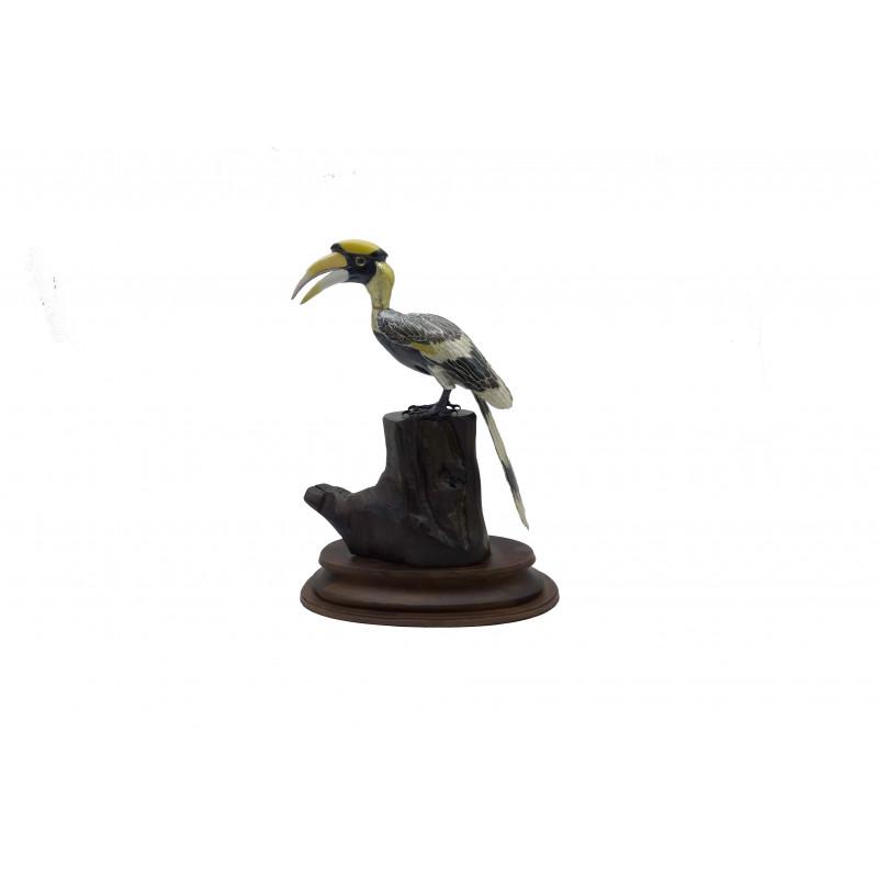COPPER ENAMELED BIRD Horn Gill