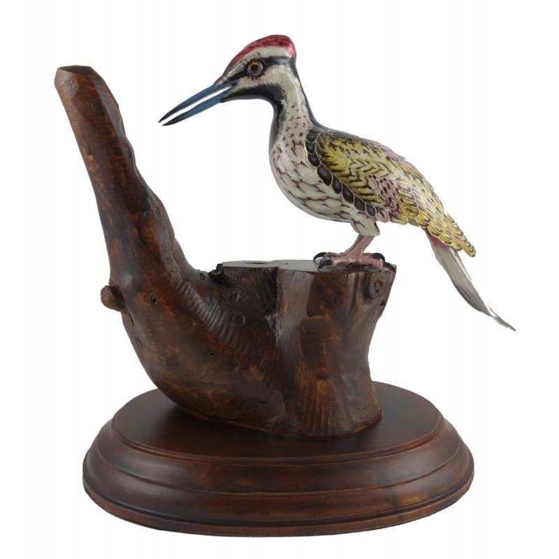 COPPER ENAMELED BIRD FLAMEBACK