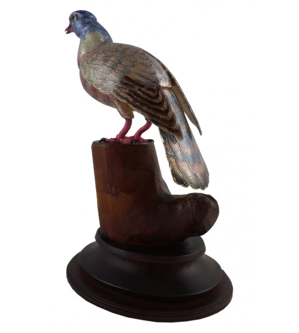 COPPER ENAMELED BIRD PIGEON