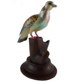 COPPER ENAMELED BIRD DOVE
