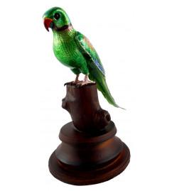 COPPER ENAMELED BIRD PARROT