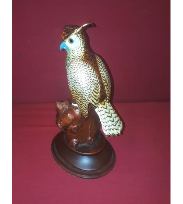 COPPER ENAMELED BIRD 9X7X4.5 INCH