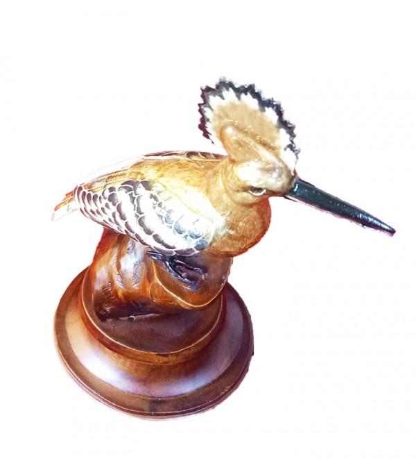 Handcrafted Silver Gulabi Meenakari Bird