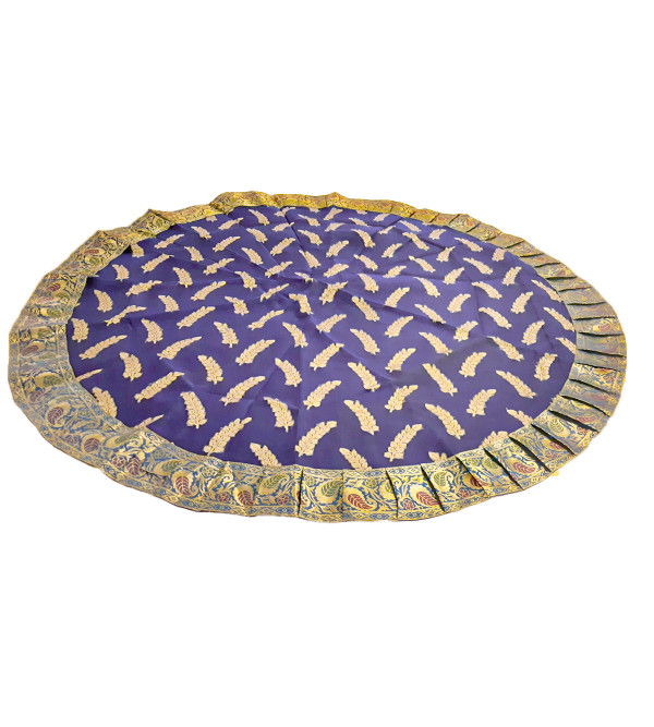 Brocade Handwoven Table Cover from Banaras Size 48 Inch Round