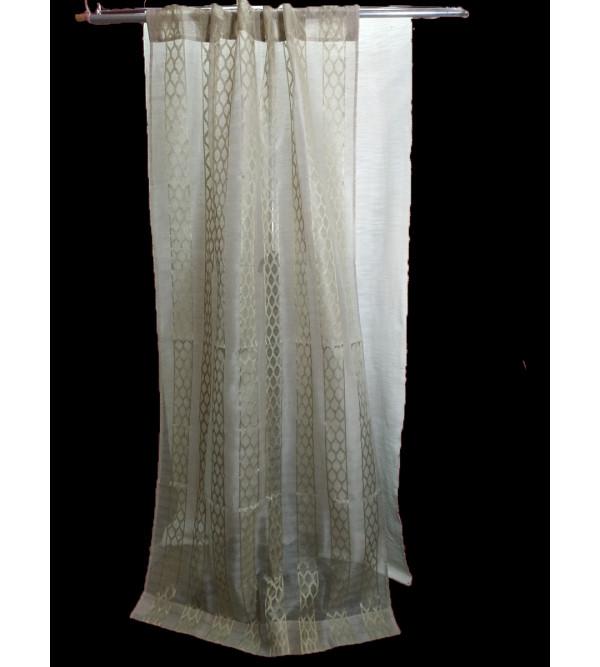 Cotton Cutwork Handwoven Curtain Size 44x84 Inch