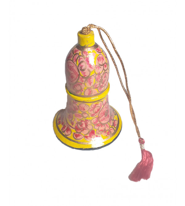 Christmas hanging Bell in papier Mache