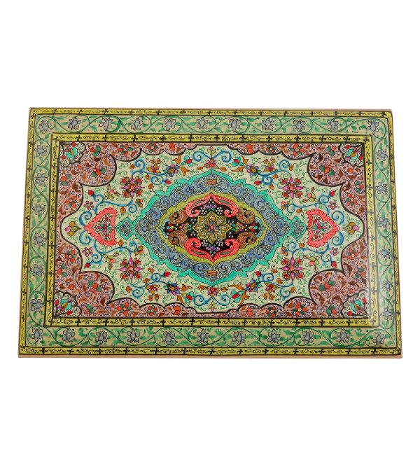 HANDICRAFT PAPER MACHIE FLAT BOX (9X6 INCH) ASSORTED CARPET DESIGN