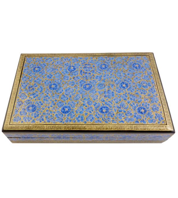 HANDICRAFT PAPER MACHIE FLAT BOX 8X5 ASSORTED DESIGN