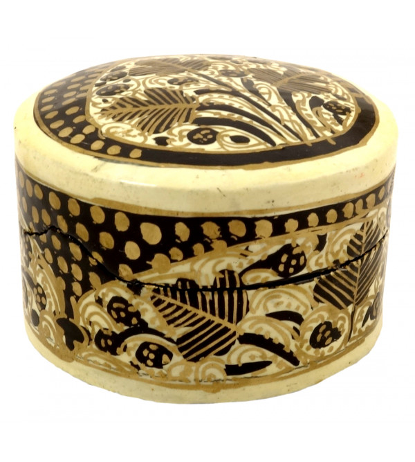 HANDICRAFT PAPER MACHIE PILL BOX 2 INCH  ASSORTED PAPIER MACHE BOX