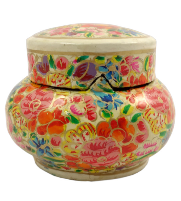 HANDICRAFT PAPER MACHIE CANDY JAR ASSORTED COLOR