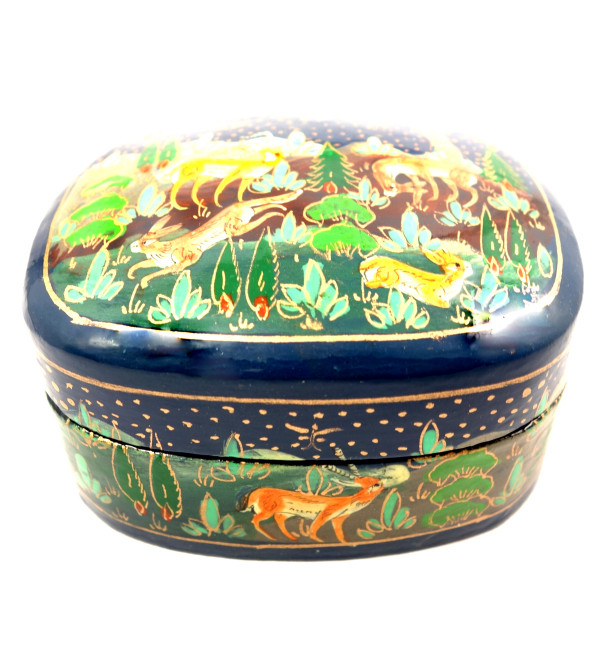 HANDICRAFT PAPER MACHE BOX JUMBO ASSORTED DESIGN 3.5 INCH