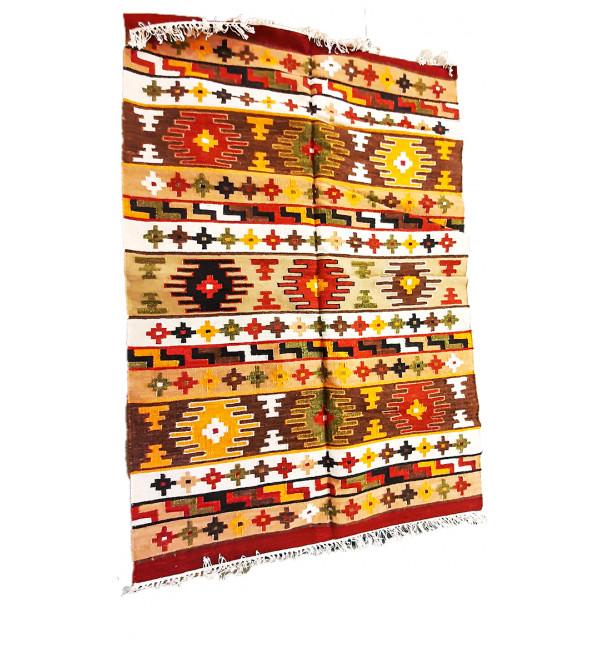 Woolen Handwoven Durries 4x6 ft