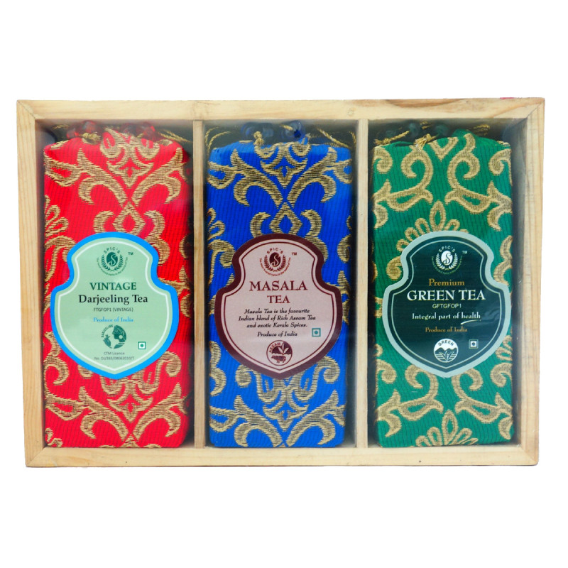 DARJEELING, MASALA AND GREEN TEA 3 IN 1 TRAY 300 GM