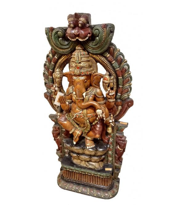 Ganesha Handcrafted In Vaghai Wood