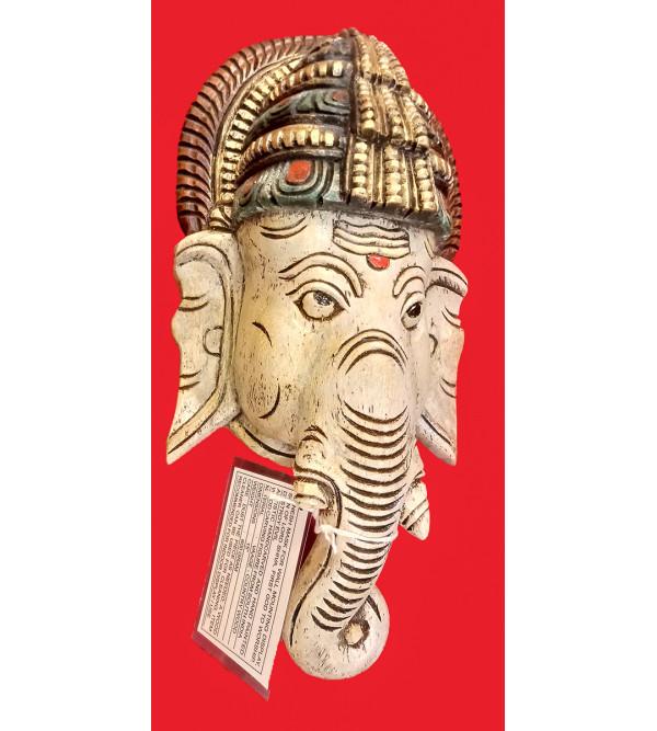 Ganesha Mask Handcrafted In Vaghai Wood