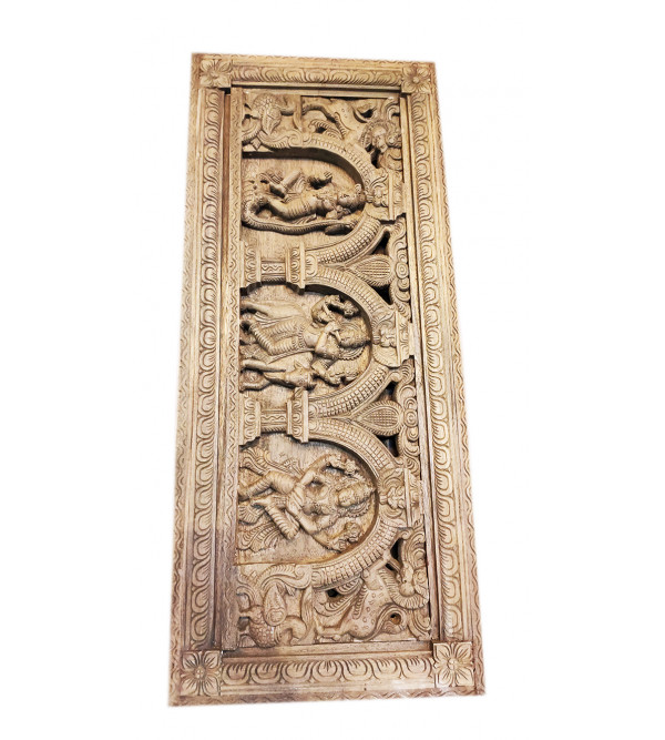 KRISHNA PANEL IN VGHAI WOOD NATURAL FINISH 42X18X4  Inch