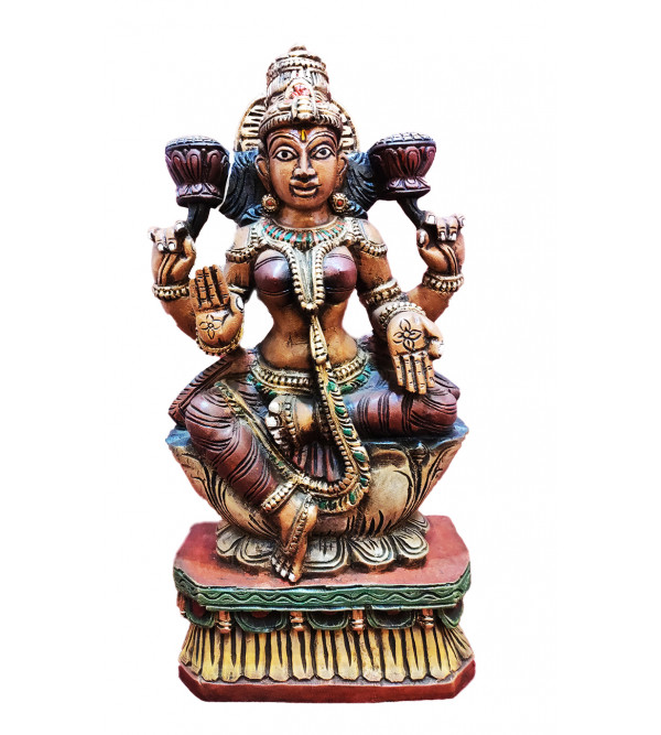 25X13X5 INCH LAXMI IN VAGHAI WOOD PAINTED