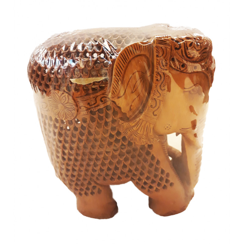 Sandalwood Handcrafted Elephant with Jaali Work