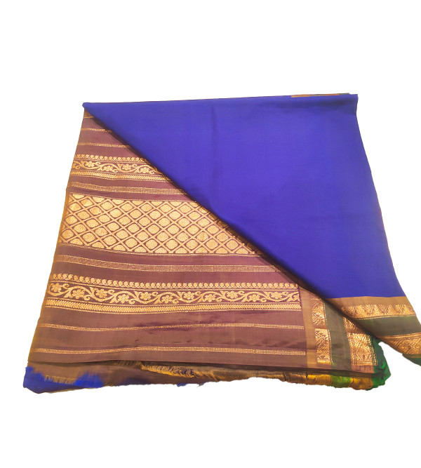 Gadwal Silk Hand Woven Saree Without Blouse