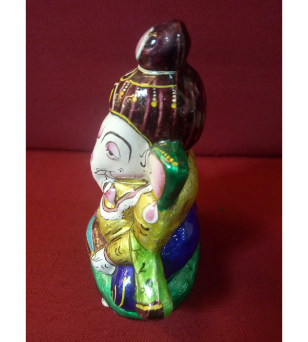 Handcrafted Meenakari Ganeshji With Dholak