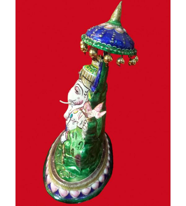 Handcrafted Gulabi Meenakari Silver Ganesha