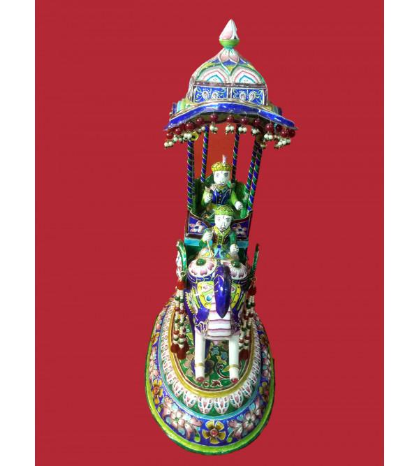 AMBARI SILVER ELEPHANT KING MEENAKARI BANARAS 15