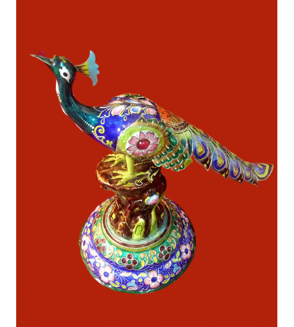 Handcrafted Silver Gulabi Meenakari  92.5% Size 7 Inch