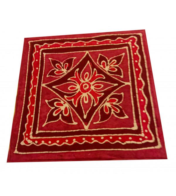 Cotton Batik Hand Block Printed Cushion Cover Size 18x18 Inch