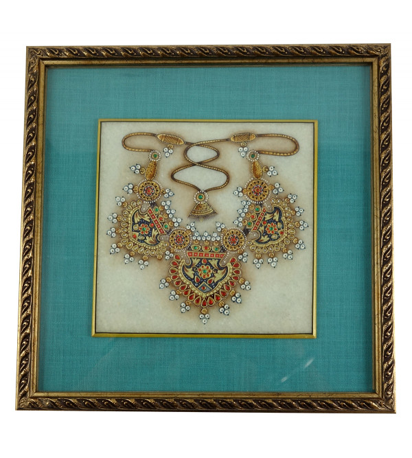HANDICRAFT JEWELRY PAINTING FRAMED 6X6 Inch