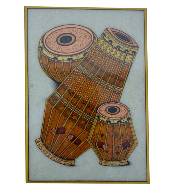 HANDICRAFT MUSICAL INSTRUMENT  PAINTING 6X9 INCH